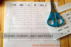 zinnen maken - een werkblad - Lespakket