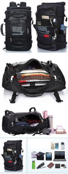 US$44.55 45L Men Large Capacity Backpack,travel bags for men,men's travel bags,travel tips packing,travel tips and tricks,travel bags ideas