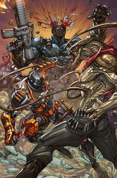 Deathstroke 19 Splash  by arf,,,,,,,,,!!!!