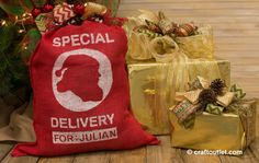 Special Delivery Custom Santa Sack- Tutorial by Craft Outlet