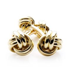 Michael C. Fina - Love Knot Collection 14K Yellow Gold Love Knot Cufflinks