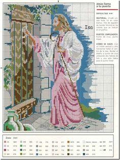 En Punto de cruz: Jesús en punto de cruz esquemas gratis