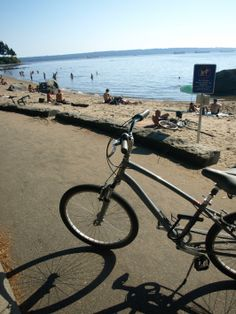 Bicycle By Second Beach Stanley Park Vancouver
