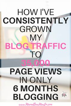 Are you a new blogger who's looking for tips on how to increase blog traffic? This blogger shares her income report AND how she's used social media and Pinterest to grow her page views to her website. Check it out! | www.MamaBearMartin.com