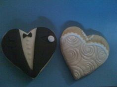 Wedding Cookies Wedding cookies tux and dress