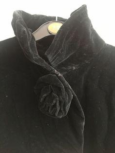 496fae01848 Long Black Velvet Cloak - Steampunk Goth