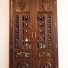 Home Window Grill Design, House Outside Design, House Design, Wooden Main Door Design, Pooja Room Door Design, Puja Room, Room Doors, Luxurious Bedrooms, Wooden Doors