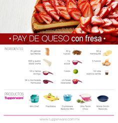 Pay de queso con fresa.