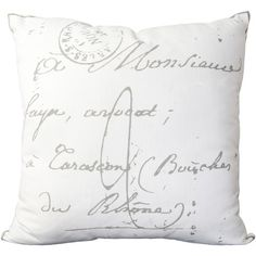 Found it at AllModern - Evelina Classical French Script Cotton Throw Pillow