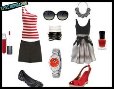 Red & black summer outfit