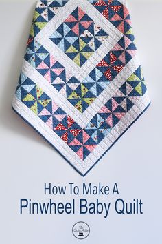 Gnomes & Garden Baby Quilt – She Quilts Alot - Garden DekoPinwheel quilt blocks are fun to make and they make an a super cute baby quilt. Make your own Pinwheel Baby Quilt with this beginner friendly tutorial. Quilt Baby, Baby Girl Quilts, Girls Quilts, Baby Quilts For Boys, Pinwheel Quilt Pattern, Quilt Patterns Free, Kids Patterns, Baby Boy Quilt Patterns, Pattern Ideas