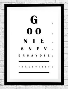 Dr Seuss 'Don't Cry Because It's Over, Smile Because It Happened' Quote- Eye Chart Minimalist Poster, Typography Print, Home Decor, Wall Art Typography Prints, Typography Poster, Quote Prints, Wall Art Prints, Poster Prints, Posters, Christmas Movie Quotes, Classic Christmas Movies, Classic Movie Quotes