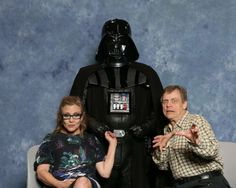 Carrie Fisher, Darth Vader & Mark Hamill