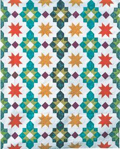 Moroccan Lanterns PDF Pattern - Freshly Pieced Quilt Patterns - 1