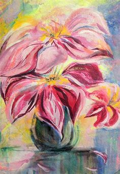 """Daily Paintworks - """"Big Blooms"""" - Original Fine Art for Sale - © Mary Schiros"""