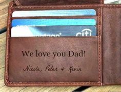 Personalized mens gift •  Personalized RFID wallet • Personalized leather wallet  groomsman gift • gift for dad monogram wallet Toffee7751•• by AprilandKiwi on Etsy https://www.etsy.com/listing/386546466/personalized-mens-gift-personalized-rfid