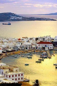 Mykonos Harbour, Greece