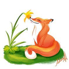 From the illstrator's site:  I know it's not properly #kumiho but I love foxes! @sketch_dailies #fox #sketch_dailies #sketchdailies #flower #lilly #smell #zorro #zorra#vixen #cartoon #animation #illustration #ilustracion #sketch #doodle #animal #wild #beautiful #Caracas #la #drawing #emotive #nature #venezuela #orange