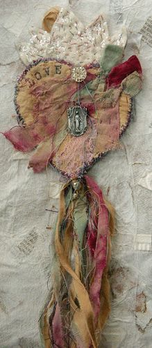 The Milagro of Love Redux by pip814 on Flickr - stunning use of dyed ribbons and fabrics.