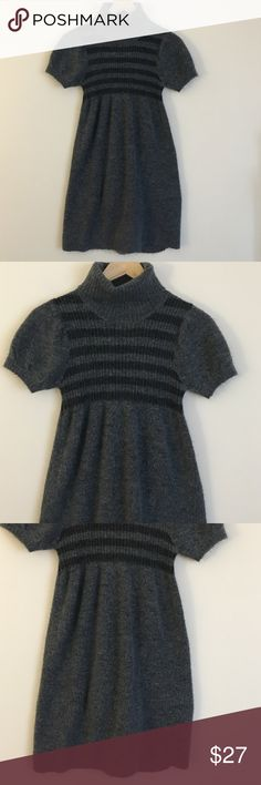 """No boundaries S turtleneck sweater dress gray Look trendy, stay warm, and have fun in this No Boundaries turtleneck sweater dress in small. Dimensions taken while garment is laying flat: 13"""" across shoulders, 26"""" bust, 24"""" waist, 28 hips, sleeve length 8"""", length from shoulder to bottom hem 31"""". No Boundaries Dresses Midi"""