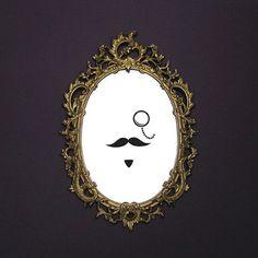 Moustache Mirror sticker... HAHAHA LoVE It