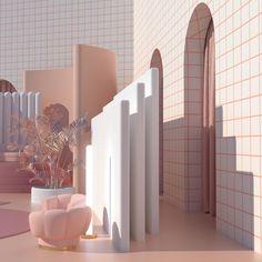 mi ritorni in mente on Behance Colour Architecture, Interior Architecture, Interior Design, Art Deco, Hybrid Design, Looks Cool, Interior Inspiration, Decoration, Room Decor