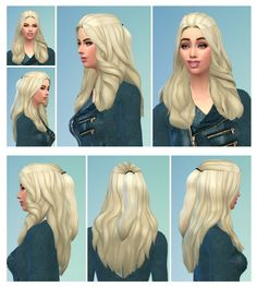 Floating Hair female at Birksches Sims Blog • Sims 4 Updates