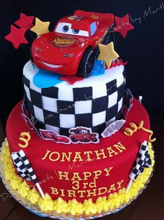 CARS CAKE by Divine Sweets by Martha, via Flickr