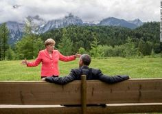 Chancellor Angela Merkel and President Barack Obama, Bavaria 2015