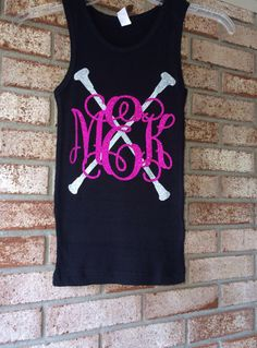 Glitter Monogrammed Tank top MonogramTank top Girls, Teens, Ladies, Children's Dance wear Glitter Batons, Twirler, Dance, Baton Shirt