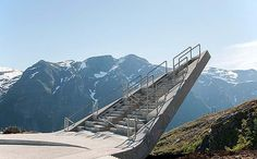 "dezeen: "" This triangular viewing platform perched on the edge of a mountain was created by Norwegian studio Code Arkitektur as a rest stop for one of the country's picturesque tourist trails Cantilever Architecture, Futuristic Architecture, Landscape Architecture, Architecture Design, Amazing Architecture, New Hampshire, Building Art, Western Coast, Stunning View"