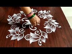 muggulu for beginners Easy chukkala muggulu Easy rangoli Simple rangoli Thanks for watching 🙏🙏 Please like share comment below for . Simple Rangoli Border Designs, Rangoli Designs Flower, Small Rangoli Design, Rangoli Ideas, Rangoli Designs Diwali, Rangoli Designs With Dots, Kolam Rangoli, Beautiful Rangoli Designs, Flower Embroidery Designs