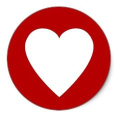 red_heart_border_sticker