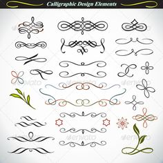 Calligraphic Design Elements 3 #GraphicRiver Collection of calligraphic elements in vector format. Ideal for: creative greeting cards, invitations, documents, brochures, presentation, and many more uses. All works from Infografx are made with great attention to detail, so that the curves are smooth, clean and easy to use or modify. No unneeded anchor points or cuts. Ready for your creativity! Some of my collections Created: 22April13 GraphicsFilesIncluded: Transp...