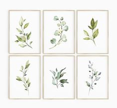Printing Websites, Watercolor Leaves, Floral Wall Art, Nature Prints, Leaf Art, Home Wall Decor, Botanical Prints, Painting Frames, Printable Wall Art