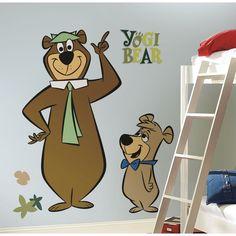 Room Mates Licensed Designs Yogi Bear Giant Wall Decal - RMK1442GM