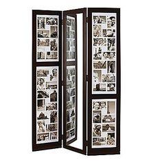 "Nexxt Preston Floor Standing Triple Panel Photo Screen With Mirror, 65"" x 42"" x 3/4"""