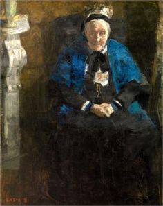 Old Lady with Blue Shawl (The Artist's Grandmother) - James Ensor