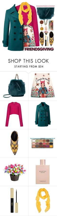 """""""Looking forward to spending time with my friends....."""" by angiesprad ❤ liked on Polyvore featuring Maison Boinet, Gucci, McQ by Alexander McQueen, Lands' End, Jeffrey Campbell, Improvements, Yves Saint Laurent and Gold Case"""