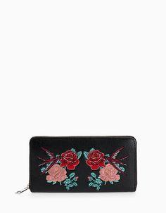 Πορτοφόλι με φερμουάρ τριαντάφυλλα - Πορτοφολακια | Stradivarius Greek
