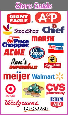 Store Guide for couponing- Target