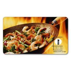 frying wok restaurant business card