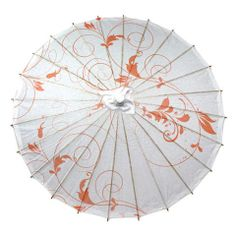 Peachy Keen – Parasols by Design - peach vines parasol great for outdoor weddings! sunshade, sun protection
