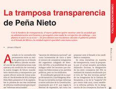 La tramposa transparencia de Peña Nieto