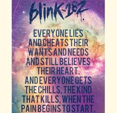 blink 182 lyrics :)