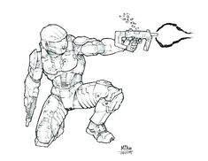 30 best halo coloring images halo