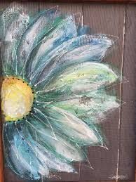 Recycle Old window Screen flower Perfect outside porch, you can imagine this colorful happy flowers anywhere in your home! Painted Window Screens, Window Art, Tole Painting, Painting On Wood, Daisy Painting, Pallet Art, Blue Flowers, Happy Flowers, Motif Floral