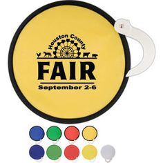 "Beat the heat with this unique and useful promotional product. When opened, it's a durable hand held fan. Twist to close for easy storage in purses or pockets. Actual size: 8"" diameter. Great fund raiser: low cost - high perceived value, Perfect for outdoor events including concerts, sporting events, and county fairs. See our catalog or website for lower minimums"