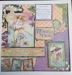 Graphic 45 Fairie Dust Collection.  Layout design Jessica Waltersfor Scrappin' in the City.