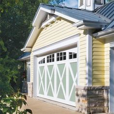 No longer an afterthought, they're stronger, more weathertight, and brimming with character. The experts at This Old House help you pick a new garage door to complement your home Old House, Home, Vinyl Doors, Garage, House, Doors, Old Houses, Garage Door Paint, House Exterior